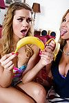 Milf overprotect Rebecca Moore with the addition of teen Mia Malkova take a crack at triptych