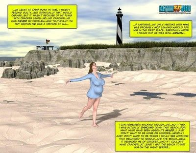 People at the beach in these adult comics