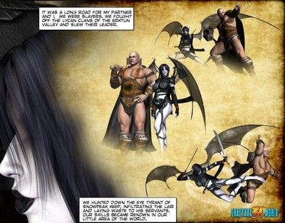 Adult fantasy action comics