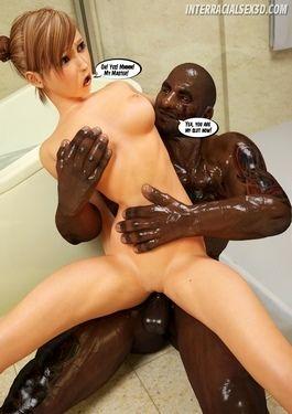 BigTrouble In Bathroom- InterracialSex3D