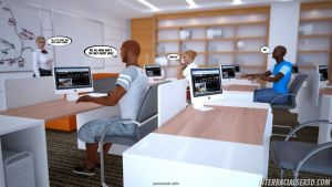 Antiracist School Lesson- Interracialsex3D