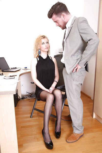 European office slut Anita Vixen gets fucked by her lovely boss