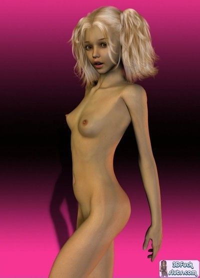 3d toon with small tits