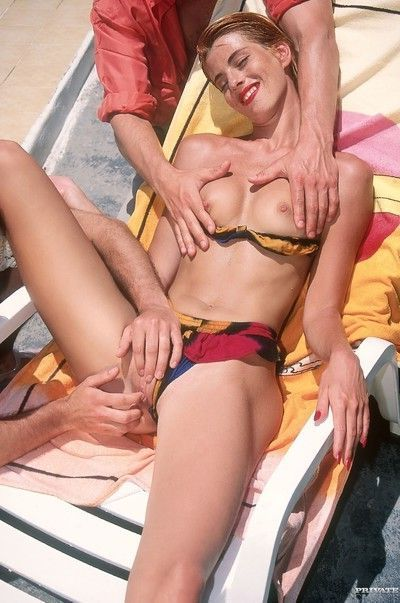 Caribbean vacationg with two cocks and double fucking threesome