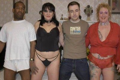 Interracial swingers foursome fucking