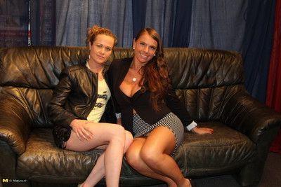 Two german housewives at a gang bang