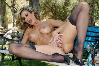 Brandi love naked in the park