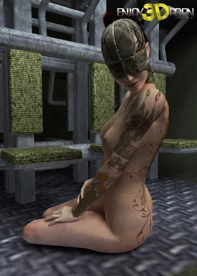 Pretty hot dystopian girl shows her cunt