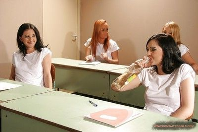 Nasty schoolgirls getting punished rough and hard by their naughty teachers