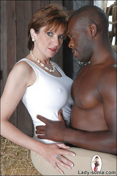 Naughty fetish lady has some CFNM fun with a well-hung black lad