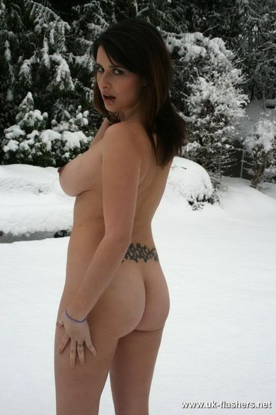 Cold and snowy day when we meet up with juvenile exhibitionist je