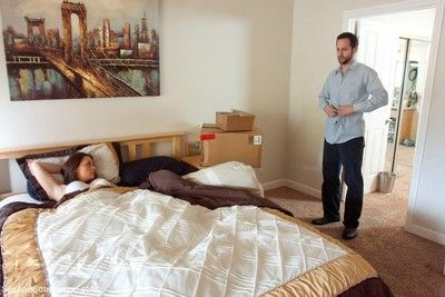 House wife bound and fucked in the ass by kinky neighbors