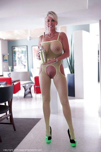 Astonishing housewife Sandra Otterson is stroking her nipples