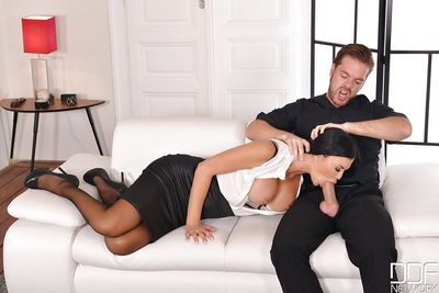 MILF pornstar Jasmine Jae restraining her hubby before fucking another guy
