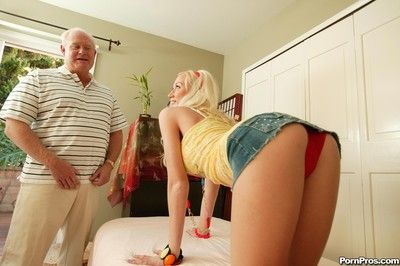 Old geezer tasting fresh young pussy