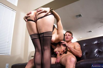 Wet hole slut Dana is nailed in her deep pussy and tight anal