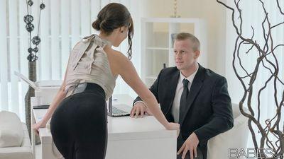 Foxy brunette secretary Antonia Sainz gets nailed hard in the office