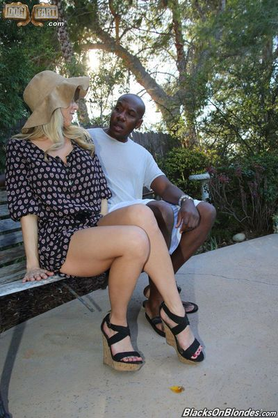 Sexy blonde Katie Morgan picked up and fucked senseless by a huge black dick