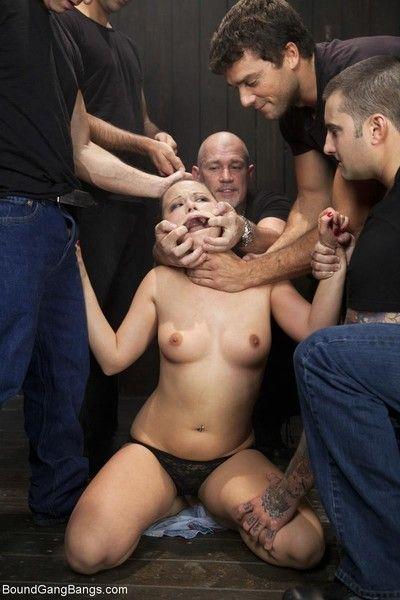 Girl gets ambushed in green room dragged onto set gangbanged