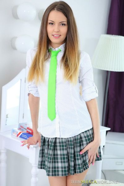 Awesome 18yo schoolgirl riding cock in her first hardcore scene