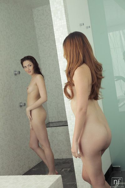 Joined in the shower by natasha malkova cassie laine teasingly s