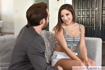 Amateur female Abella Danger having her round butt exposed and jizzed on