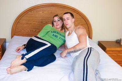 American pornstar Amy sucks big cock- gives hand job & gets cum on tits