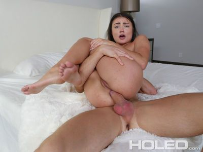 Teen pornstar Adria Rae goes anal hardcore and gets splashed by a load of cum