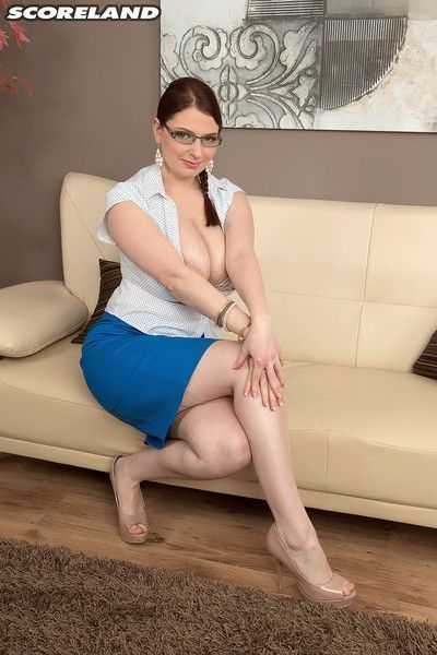 Hot secretary sofie style showing her huge tits