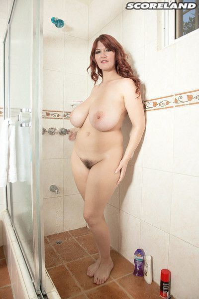 Hairy girl from poland vanessa y masturbating in the shower