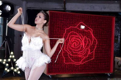 Frolic ballet dancer getting nude and exposing her graceful curves