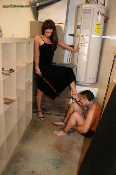 High heels and stockings training for femdom subs into foot fetish