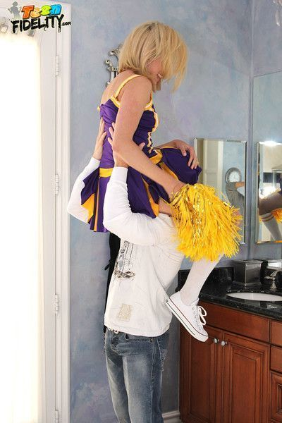 Lia lor getting fucked while in her cheerleader uniform