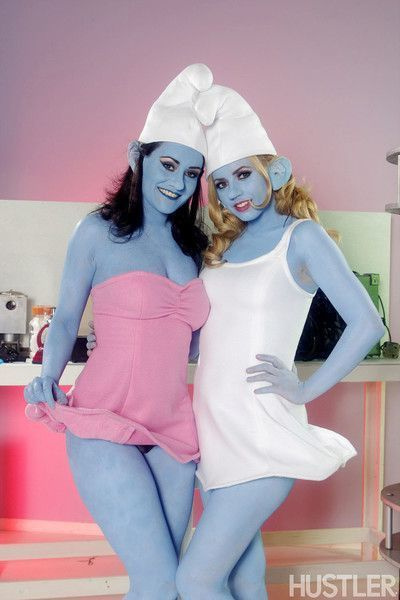 Lexi belle and charley chase in this aint the smurfs xxx