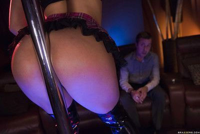 Latina stripper Abella Danger strutting in over the knee boots