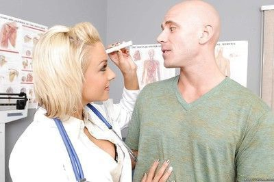 Busty blonde in doctor uniform Briana Blair fucked hard core