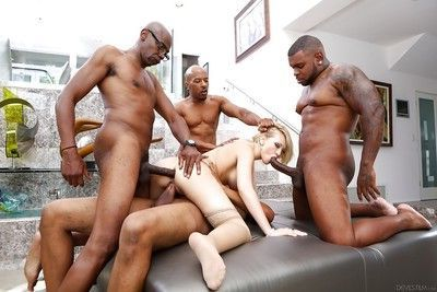 Kagney Lynn Karter love to feel giant black dicks in her holes