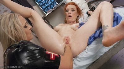 Angel allwood is a twisted nurse who does a thorough anal exam on her patients.
