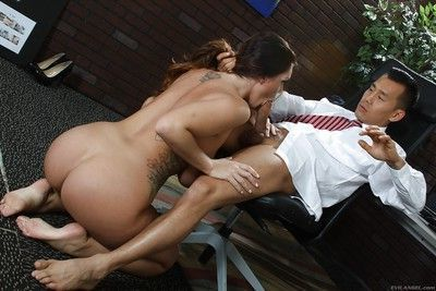 Awesome girl milf Alison gets a hardcore pussy penetration