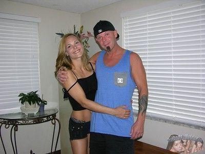 Beautiful blonde handjob and cumshot