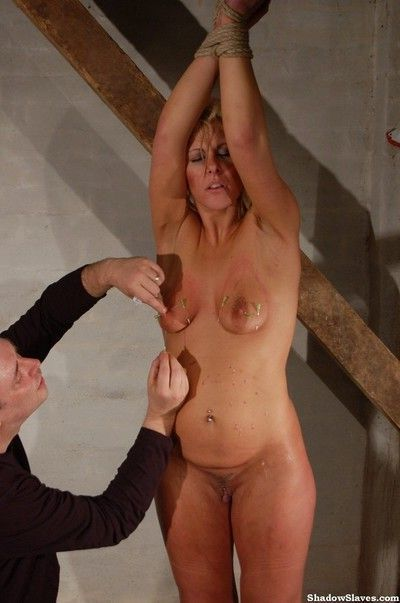 Extreme play piercing pain and needle bdsm
