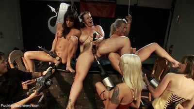 Watch the pussy battle royal with chloe camilla, lizzy rose, and devon taylor an