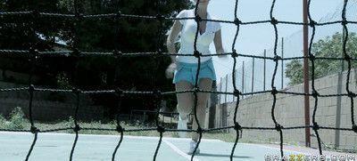Pornstar britney amber banged on a tennis court
