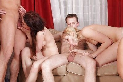 Lascivious sluts have some double penetration groupsex fun with big cocks