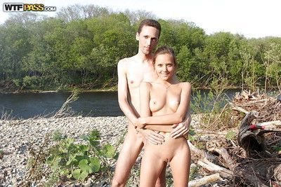 Watch this homemade video featuring young and horny couple