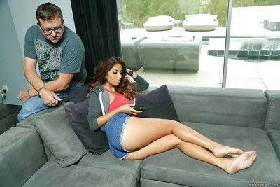 This Latina babe Isabella fingering and masturbating her cunt
