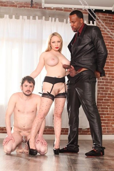Aiden starr in threesome action