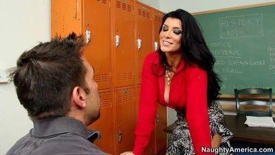 Busty sex teacher romi rain disciplining a student