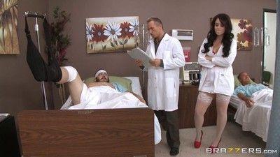 Curvy nurse noelle easton banged right at work