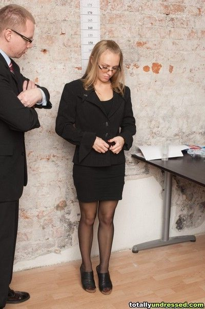 Naked secretary fucking for her new job